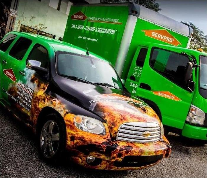 SERVPRO Truck and Car